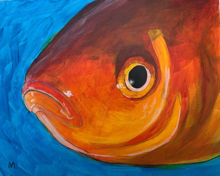 Self-Isolating Goldfish Painting